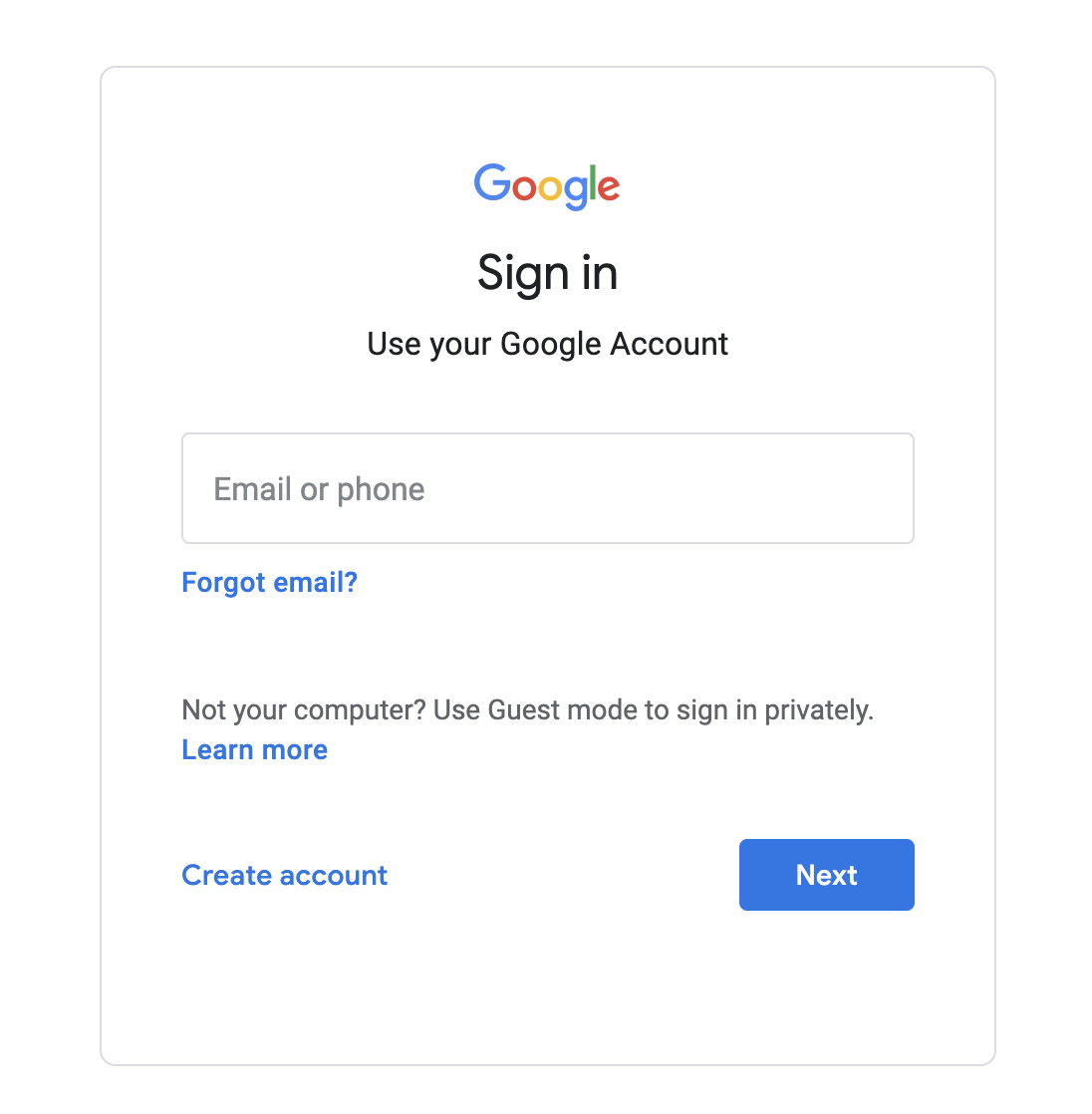 Google Admin Console Sign-in