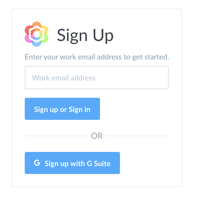 Blissfully Sign Up Form Screenshot