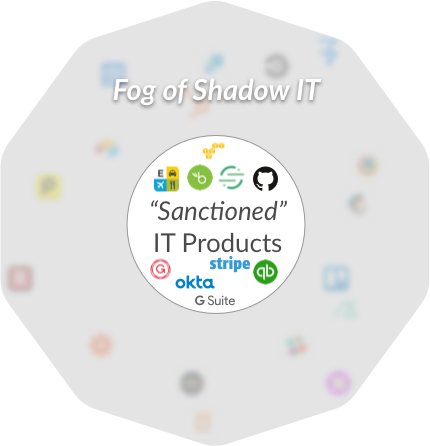A visualization of shadow IT
