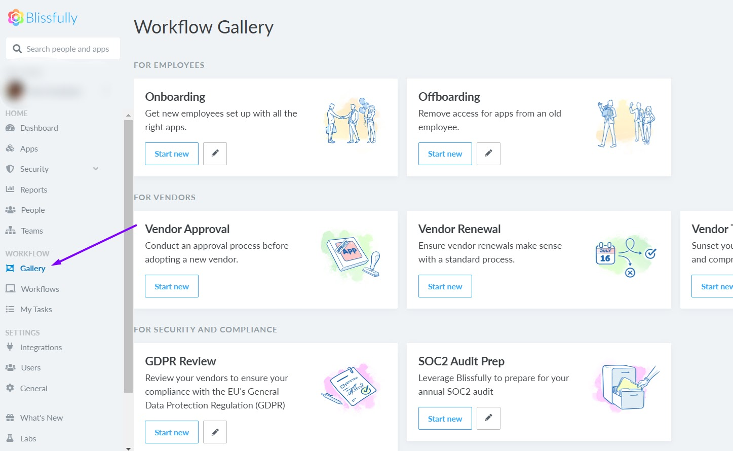 workflow gallery new