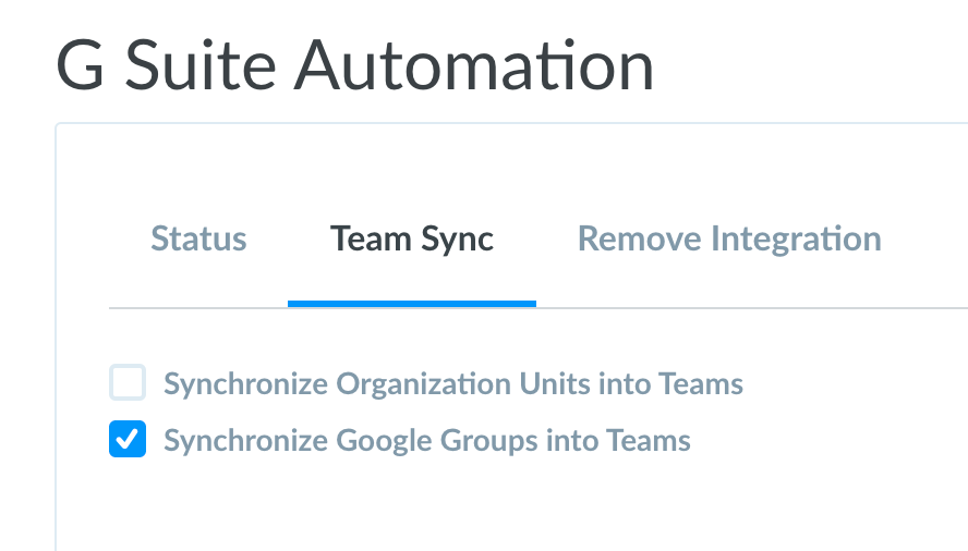 Turn on Google Group sync