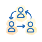 Org-wide Collaboration Flowchart Icon