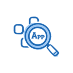 SaaS Discovery Magnifying Glass Icon